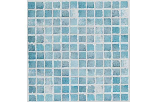 Bathroom Floor Homebase Textured Vinyl Tile Blue Mosaic 6 Pack Bathroom