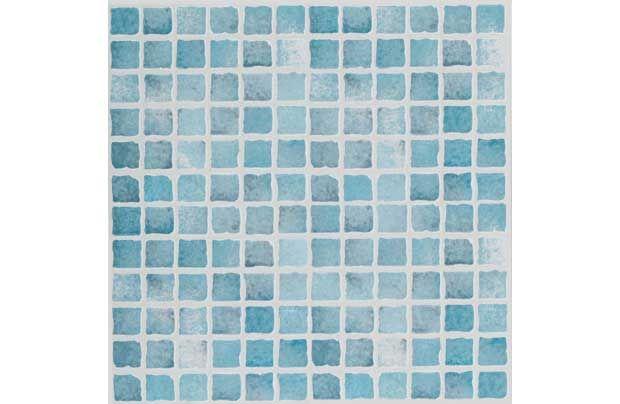 Bathroom floor homebase textured vinyl tile blue mosaic 6 pack bathroom Bathroom tiles ideas homebase