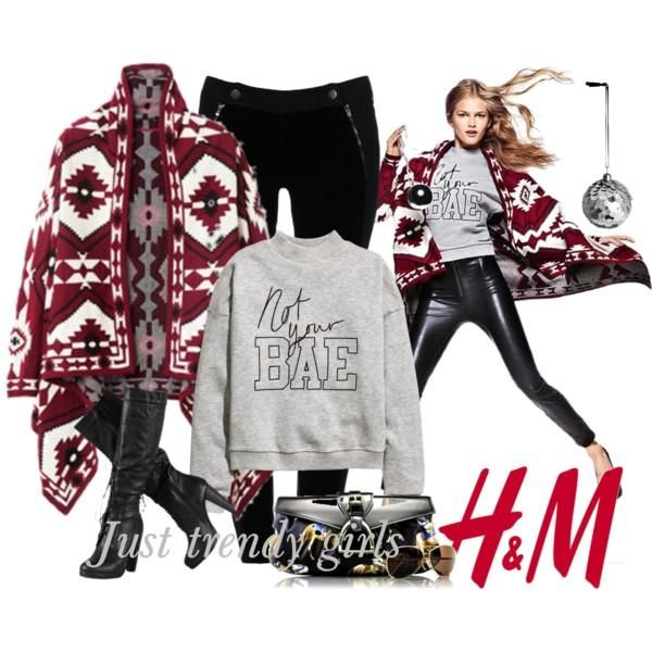 h&m christmas cardigan outfit, H&M outwear for winter 2015 http://www.justtrendygirls.com/hm-outwear-for-winter-2015/