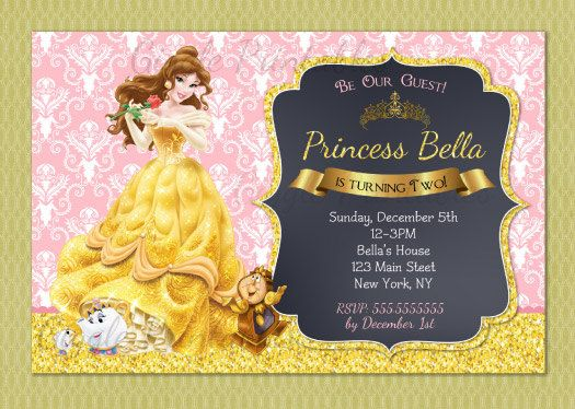 39 best Beauty and the Beast images – Costco Birthday Invitations