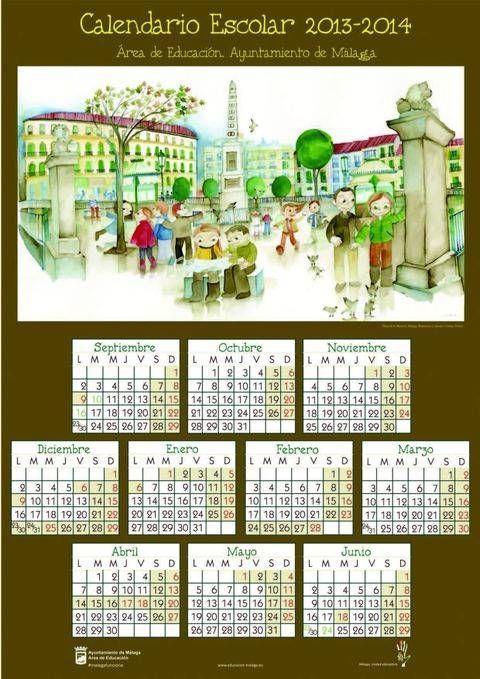 No me puedo gustar más el  #Calendario escolar 2013-2014 del #ayuntamiento #Málaga #plazadelamerced Al del próximo curso, le hago un sitio en el Blog^^