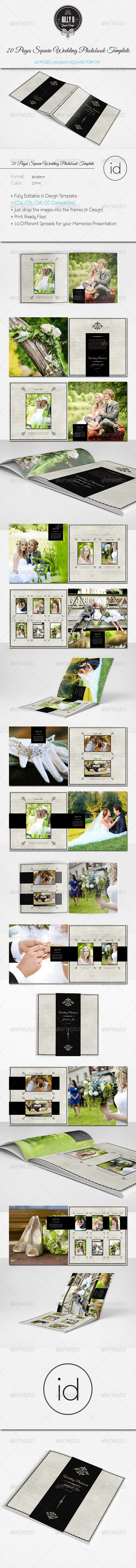 20 Pages Square Wedding Photobook Template