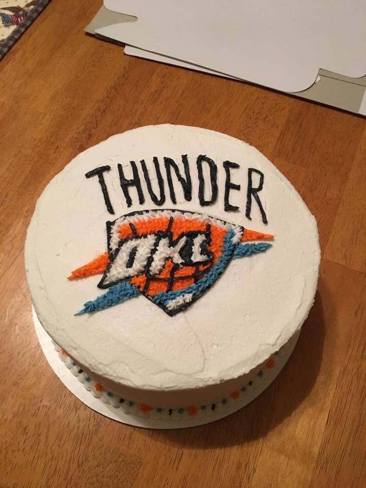 OKC Thunder cake (Hidden ticket inside)