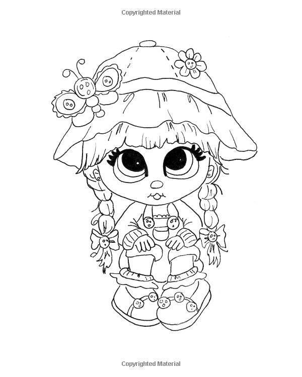 """Lacy Sunshine's """" The Boo's"""" Coloring Book Volume 3: Whimsical Big Eyed Girls…"""