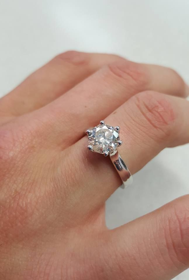 2.01ct brilliant cut diamond solitaire ring