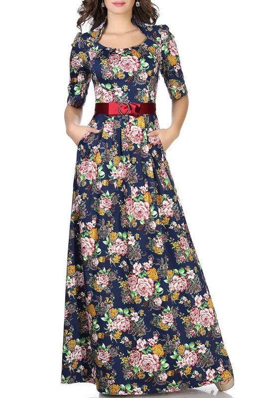 Выкройка «платья-татьянка с полустойкой»  40-62