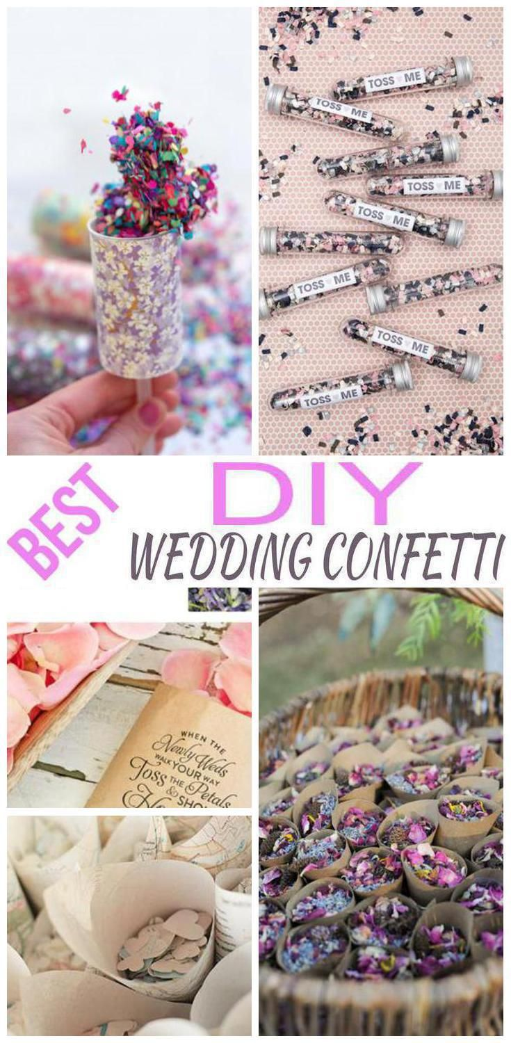 Diy Wedding Confetti Ideas Pinterest And