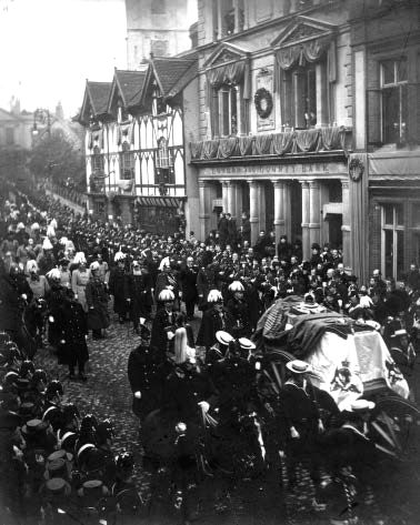 The funeral of Queen Victoria. 2nd February, 1901.