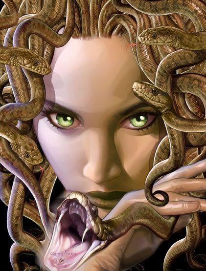 Le sorelle gorgoni dette anche Forcidi dal nome del padre, erano figlie di Ceto un mostro oceanico e Forco una divinità marina. Le gorgoni avevano lunghi denti sporgenti, ampie chiome di serpi e unghie leonine alle mani e ai piedi, ma da quello che dice la leggenda, e che all'inizio erano creature bellissime poi tramutate in mostri. Secondo Esiodo, le gorgoni erano tre: Stheno (la violenta), Euryale (l'errante che arriva in ogni dove), queste due erano le immortali poi c'era Medusa la…