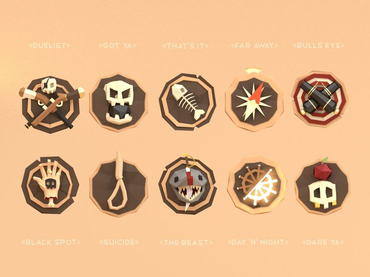 Badges for a game