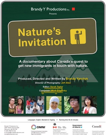 Nature's Invitationis a documentary about Canada's quest to get new immigrants in touch with nature. It also explores the consequences of of a life devoid of nature. Filmmaker Brandy Yanchyk will be in attendance and will provide a Q & A session after the film.