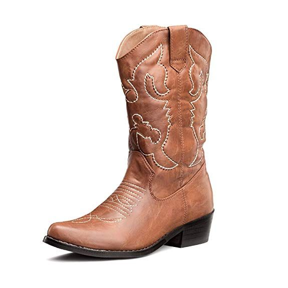 Shesole Women S Western Cowgirl Cowboy Boots Tan Size 11 Dresses With Cowboy Boots Western Boots Women Leather Cowboy Boots