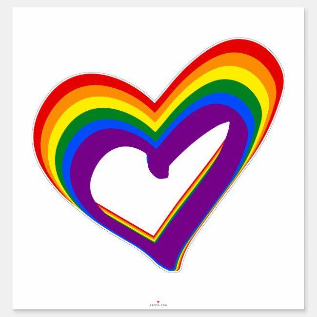 Personalised Pride Heart Word Art Print Gay LGBT Lesbian Print Pride