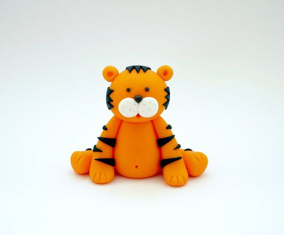 Fondant animal cake topper. Fondant tiger by SugarDecorByLetty                                                                                                                                                                                 More