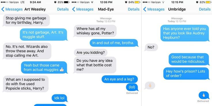What Harry's texts would be like if Harry were Regina George.