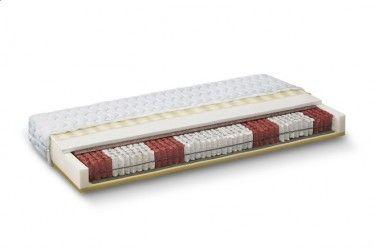 Matras Stavorne heeft een kern van multi-pocketvering (12 cm dik) met 7 zones. De ene zijde is afgedekt met 3 cm koudschuim. Aan de andere zijde zit 3 cm traagschuim. De tijk is 1 cm dik aan beide kanten. De Stavorne heeft een totale afmeting van 20 x 140 x 200 cm. In totaal is dit matras ongeveer 20 cm hoog en geschikt voor personen met een gewicht van maximaal 130 kg. https://www.meubella.nl/slaapkamer/matrassen/matras-stavorne-multi-pocketvering-80x200-cm.html