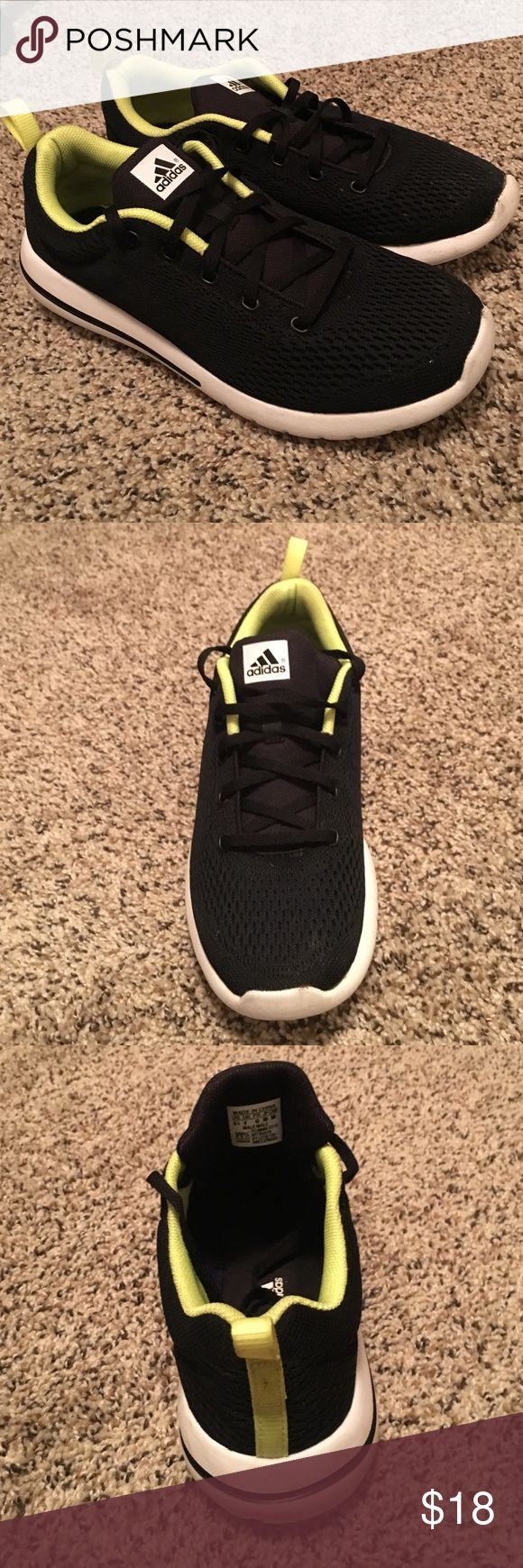 Adidas Adiprene | Black and Green | Size 8.5 These are super light running shoes. These shoe have a really hard to notice design but it has the 3 adidas stripes on the sides of the shoes. Adidas Shoes Athletic Shoes