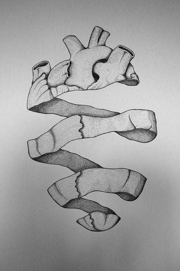 Dotted Heart by Francesco Bagnato, via Behance