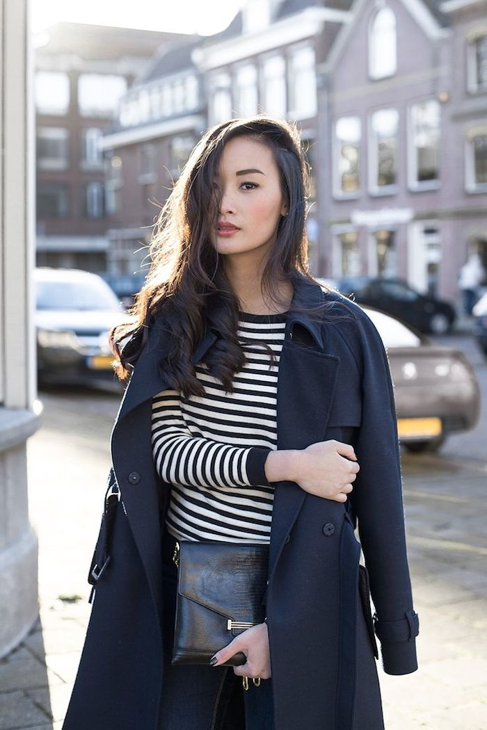 trench and stripe top | tlnique