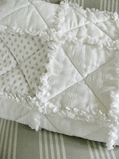 White on white rag quilt