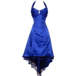 Satin Halter Dress Tulle Mini Train Prom Bridesmaid Holiday Formal Gown Junior Plus Size, 3X, Royal-Blue (Apparel)  http://postteenageliving.com/amazon.php?p=B0017ISKPG