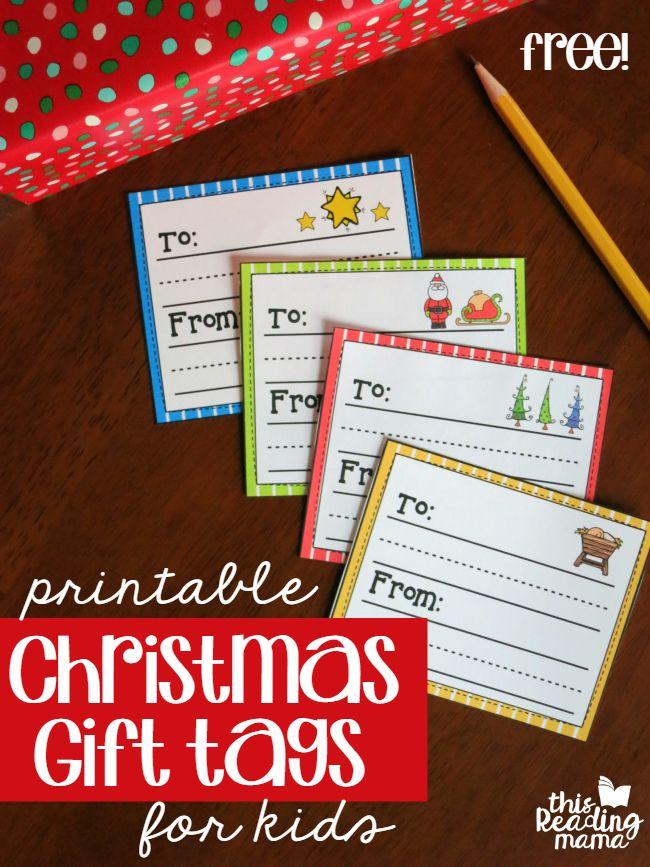 FREE Printable Christmas Gift Tags Kids Can Write on - This Reading Mama