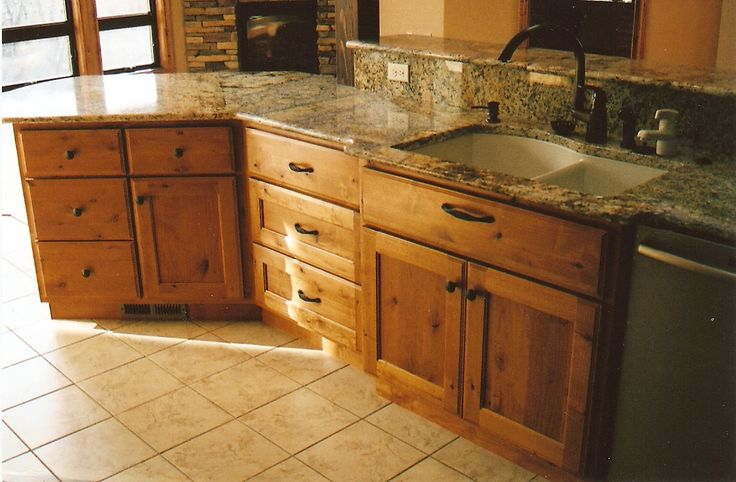 Images of kitchen cabinets made from knotty alder for Alder shaker kitchen cabinets