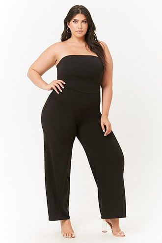 2a43c25c9d47 Plus Size Tube Jumpsuit
