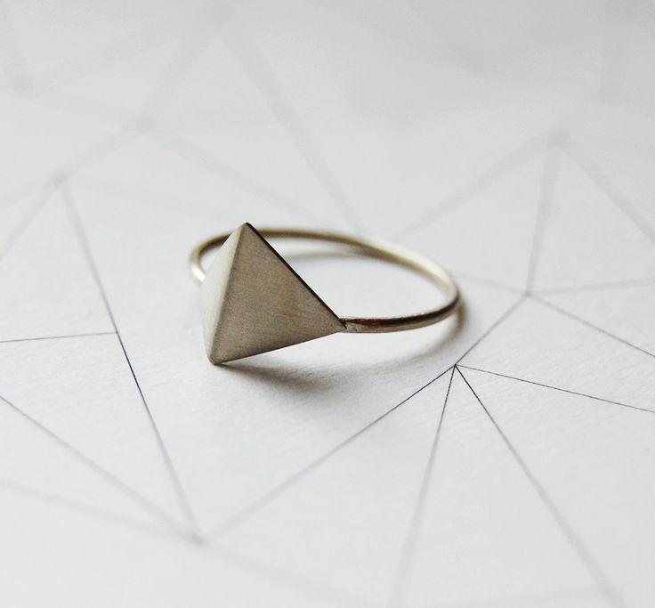 Sterling silver geometric ring Les géométriques Nro 5 by AgJc.: Geometric Rings, Jewelry Bracelets, Sterling Silver, Les Géométriqu, Gold Rings, Silver Geometric, Rings Les, Silver Rings, Geometric Jewelry