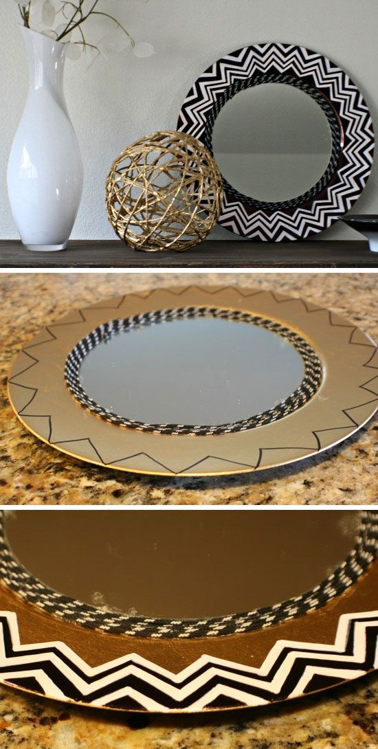 Nate Berkus Inspired Mirror   Click Pic for 26 DIY Living Room Decor on a Budget   DIY Living Room Decorating Ideas
