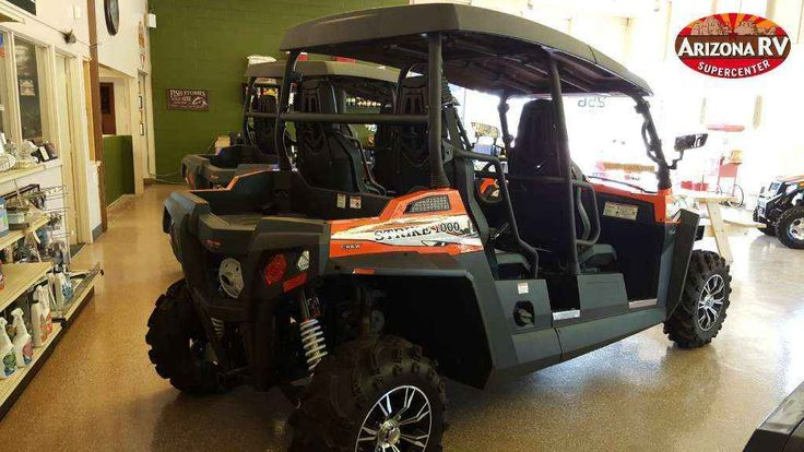 New 2015 Hisun STRIKE 1000 Crew ATVs For Sale in Arizona. 2015 Hisun STRIKE 1000 Crew, Hisun Strike 1000 - $6000 DISCOUNT! NEW! 2015 Hisun STRIKE 1000 Crew, Arizona RV is liquidating all remaining 2015 Hisun's in stock! HUGE DISCOUNTS! Regular retail price on this unit is $16,995, Factory invoice is $12,994. OUR PRICE IS $10900!!!! 1000cc V-Twin, gas assisted shocks, 2 piece roof,independent dual A-arm suspensions, On-Demand 4-wheel drive, bucket seats, automatic CVT drive system, and…