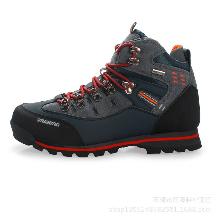 New autumn and winter men's leather high to help outdoor outdoor hiking  shoes waterproof anti-