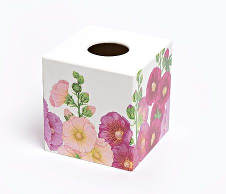 Holly Hocks Tissue Box Cover by Crackpots Tissue boxes and Bins