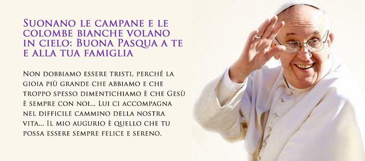 Foto Cartolina Auguri Buona Pasqua con Papa Francesco