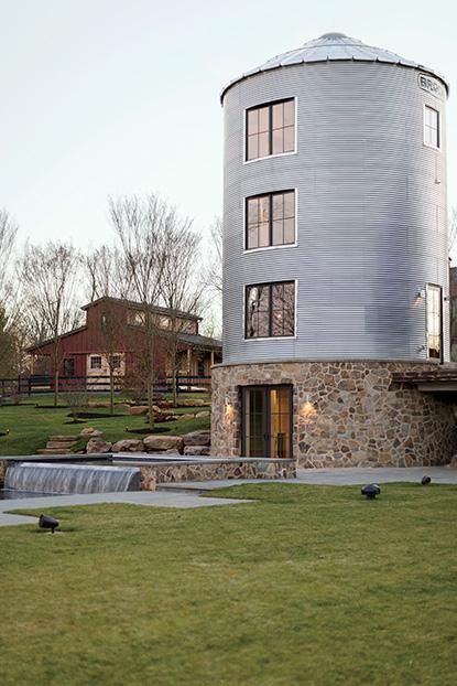 Antebellum Farm: The silo and soon-to-be-finished party barn. #ModernFarmhouse #Silo