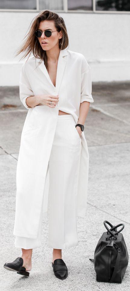 White Long Duster Coat