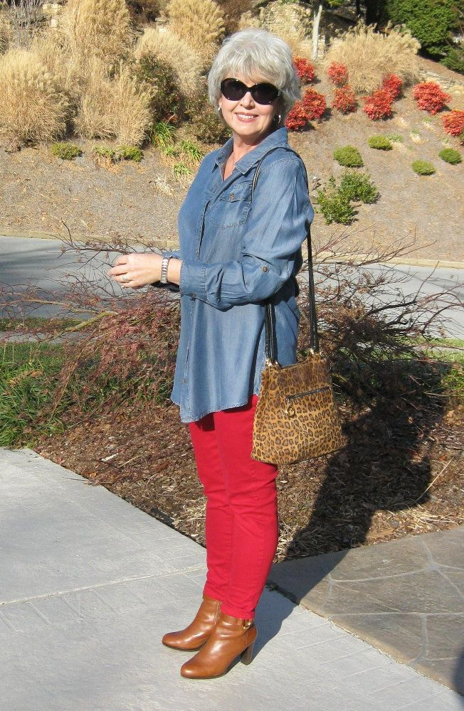 Fifty, not Frumpy: Red Jeggings!