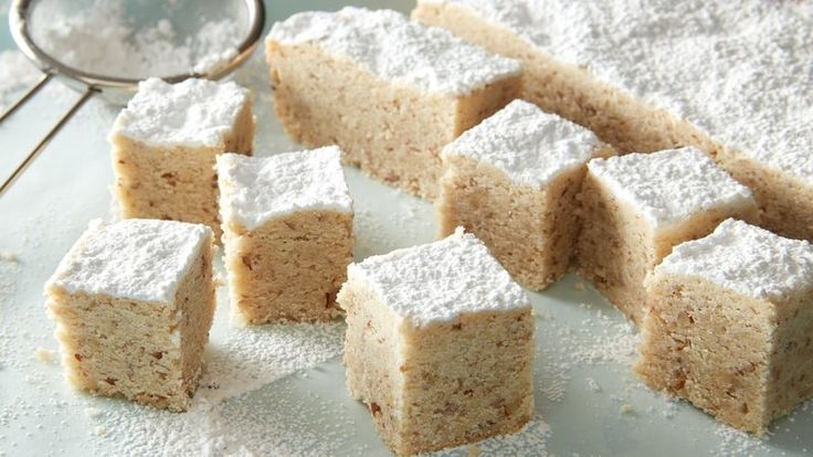 Russian Tea Cake Bars (No Rolling Needed!)