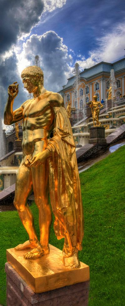Peterhof Palace, Saint Petersburg, Russia                              …