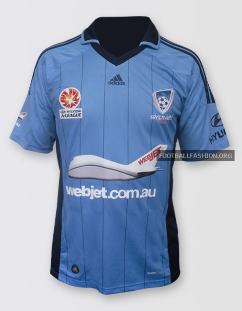 Sydney FC adidas 2012/13 Home and Away Soccer Jerseys / Football Kits