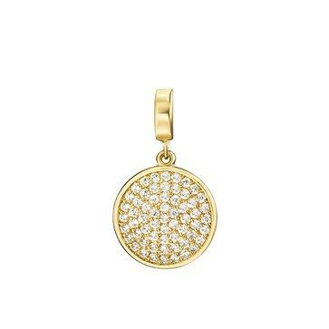 PENDANT KAGI COSMOS SMALL 18CT GOLD PLATED PAVE CLEAR CUBIC ZIRCONIA SET STAINLESS STEEL CLIP - Jons Family Jewellers