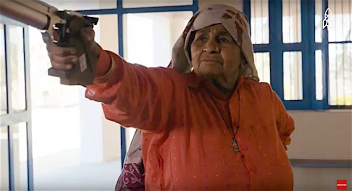 Watch cool 84-year-old granny who is said to be world's oldest female sharpshooter