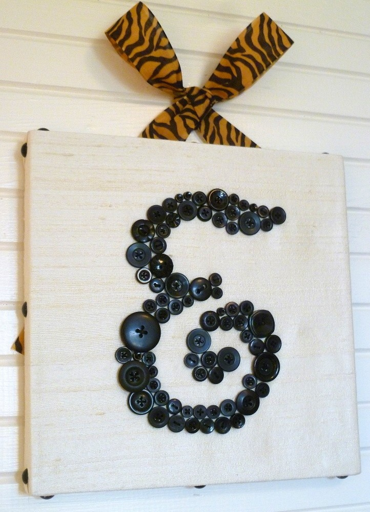 Initial Wall Art 140 best button letters images on pinterest | button letters