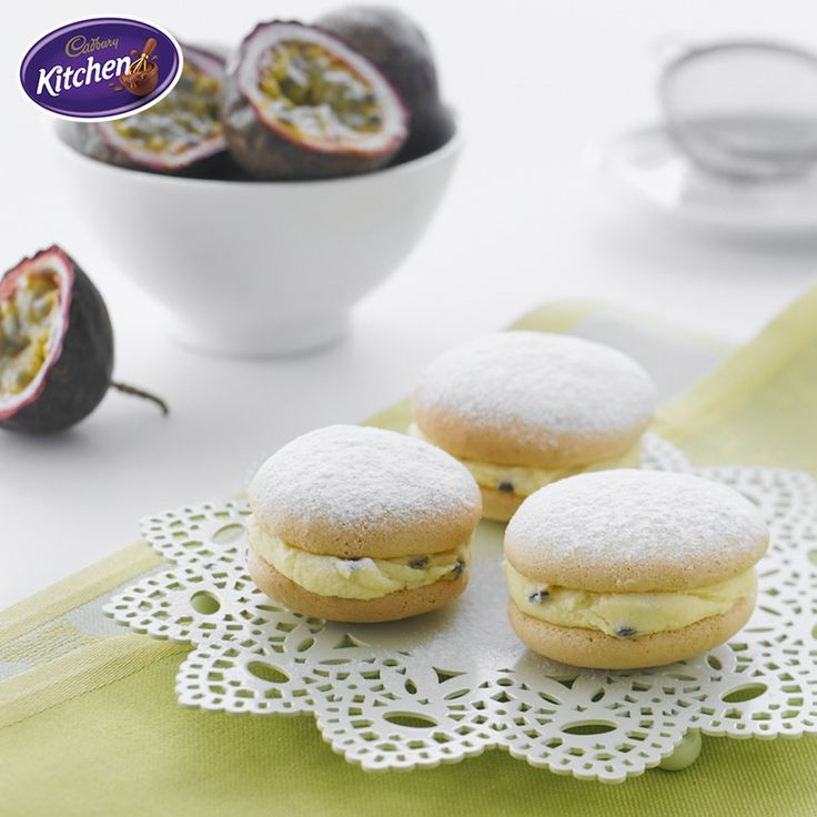 It is ALL about the portable treats this season. Pack these scrumptious Passionfruit Kisses for this weekend's barbeque and end the evening on a sweet note.    #dessert #dessertrecipes #spring #picnic #picnicideas #chocolate  To view the #CADBURY product featured in this recipe visit: https://www.cadburykitchen.com.au/products/view/cadbury-melts/
