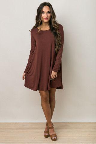 Coco Long Sleeve Piko Dress