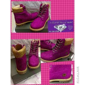 Custom Glitter Timberland Boots for Women by TouchoHoney on Etsy