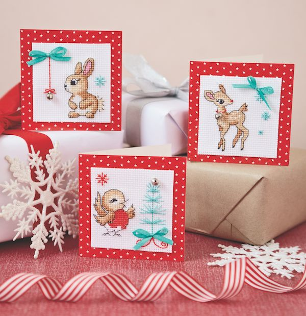 Weekend freebie – kitsch Christmas cards - Cross Stitcher