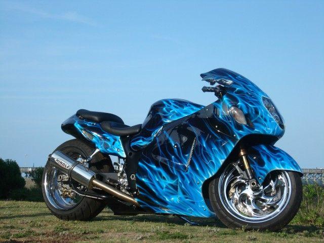 Beau Blue Flame Busa · Suzuki HayabusaCustom ...