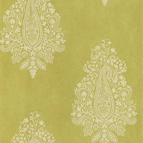 light green paisley mehndi brewster wallpaper