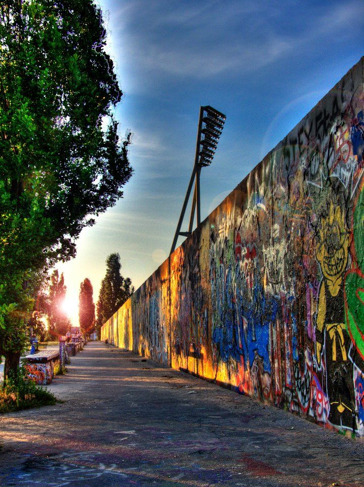 Berlin- Mauer Park was always full of graffiti artists.